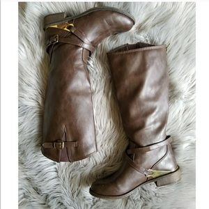 Shoes - Vegan leather riding boots
